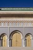 Königspalast in Fes in Marokko poster