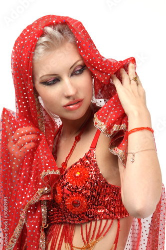 Woman in the eastern arabian dress