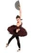 Full length portrait of a ballerina dancer