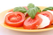 Caprese salad - tomatoes, mozzarella and basil