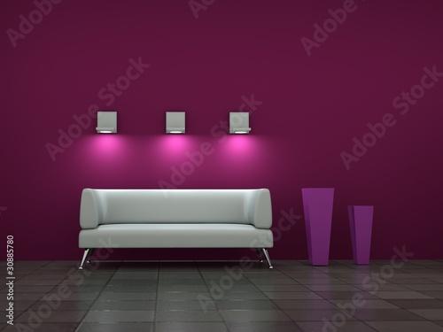 Weisse sofa schwarzweisse wohnwand welche wandfarbe - Magenta wandfarbe ...