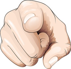 Mano e dito indica direzione-Hand and Finger Pointing Direction
