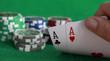 Poker - Chips Spielkarten Ass 7