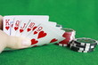 Poker - Chips Spielkarten Ass 17