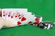 Poker - Chips Spielkarten Ass 17