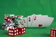 Poker - Chips Spielkarten Ass 53