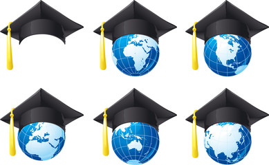 Mortar Board and globe