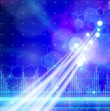Chemical formulas, digital wave & fiber optics color lights