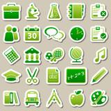 Fototapety school Green Stickers