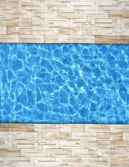 modern brick pavement with pool edge background