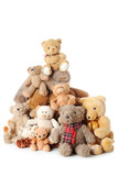 Fototapety Pile of Teddy bears | Isolated