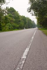 White edge line road.