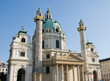 St. Charles's Church in Vienna - Outside