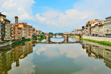 Arno river in Florence of Italy poster