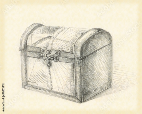 """closed treasure chest"" Stock photo and royalty-free ..."