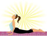 Yoga Girl (doing the Cobra Pose or Bhujangasana) poster