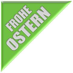 Dreieck hellgrün FROHE OSTERN