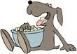 Dog Eating Popcorn