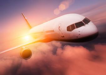 Sunset Airplane Travel
