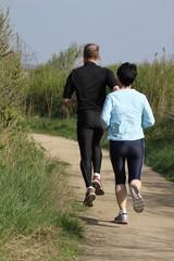 couple faisant du jogging