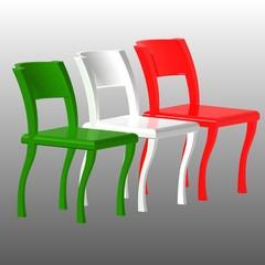 Sedie italiane tricolore - Italian chairs