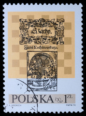 Poland - CIRCA 1974: A stamp - Chess