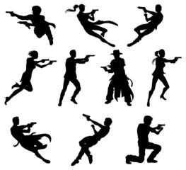 Shoot out silhouettes