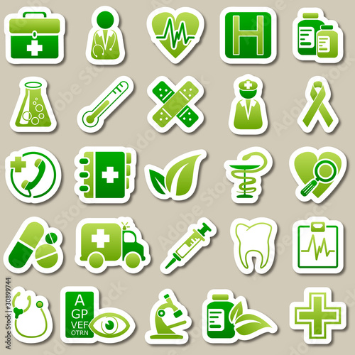 medicine Green Stickers
