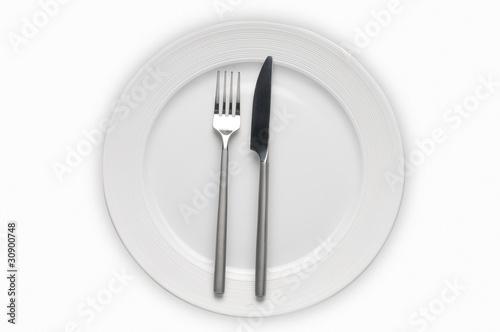 Cubierto con placa plato cuchillo y tenedor de nelson for Plato tenedor y cuchillo