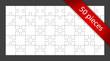 Vector 50 puzzle pieces background