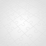 Puzzle in perspective vector background