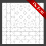 Vector 100 puzzle pieces background