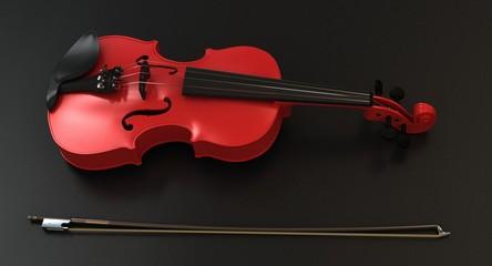Violino ROSSO su sfondo nero