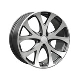 Alloy wheel on white back poster