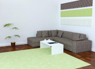 Moder interior design of living room