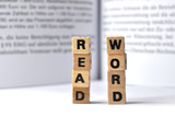 E-Learning: read word poster