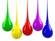 Colorful drops