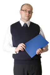Businessman with a folder of documents.