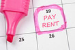 Pay rent mark
