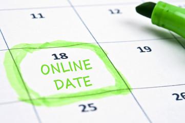 Online date mark