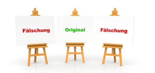 Plagiat Konzept - Original und Fälschung 2