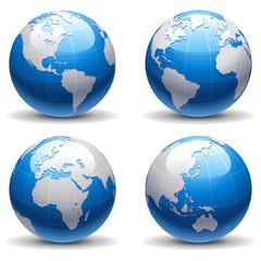 Globe Set (Blue)
