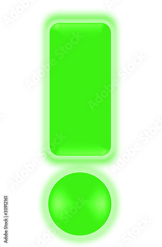 exclamation mark - light green