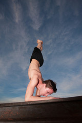 Young Man Doing Yogasana