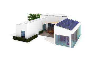 Moderne Landhaus Architektur (freigestellt)