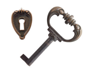 old key and keyhole