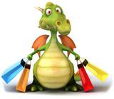 Fototapety Dragon et shopping