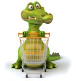 Fototapety Crocodile et shopping