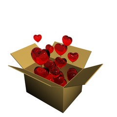 Glossy Red Heart Box Concept