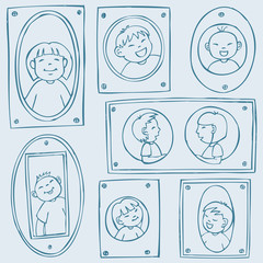 Framed Kids Pattern
